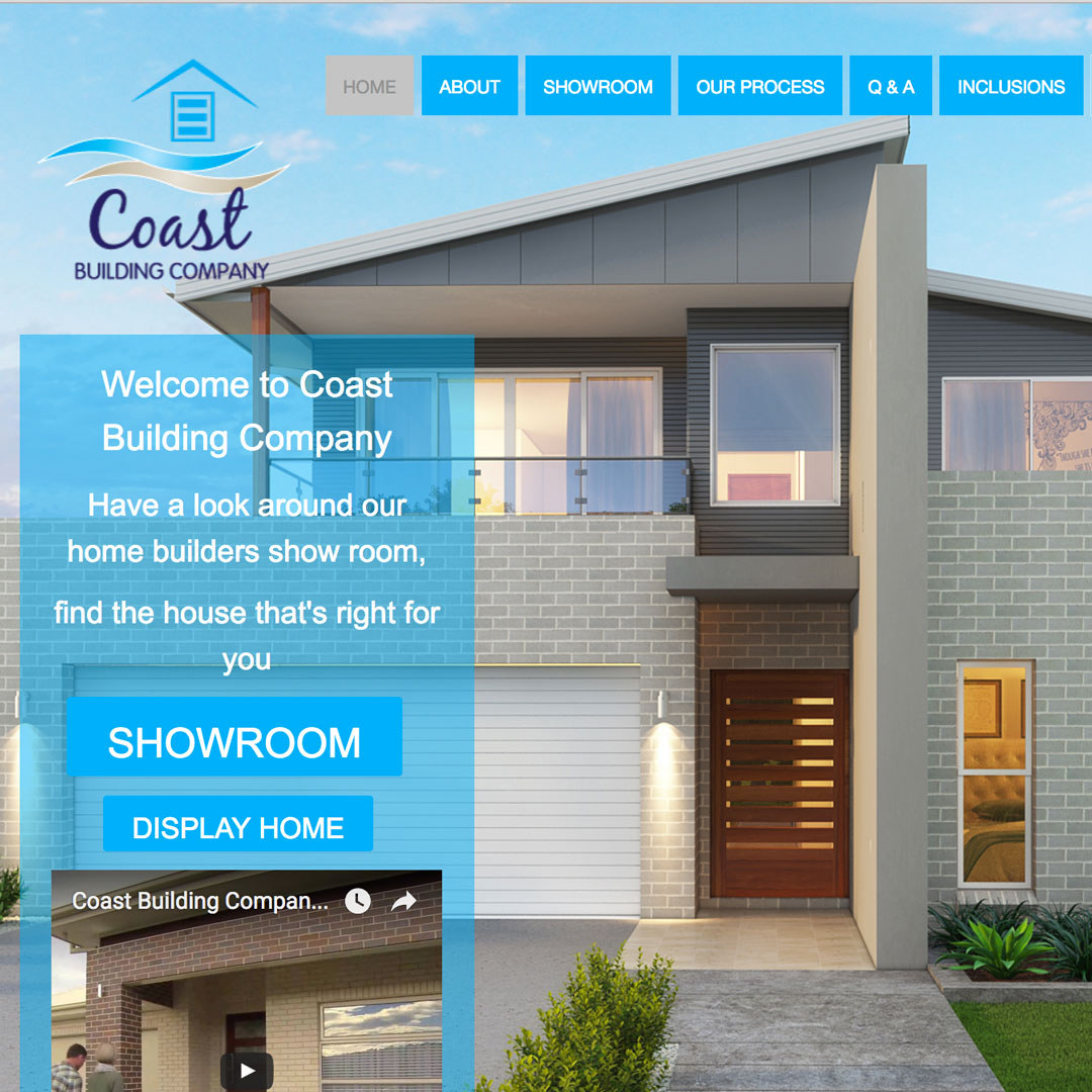Coast-Building-Company Example of Cheeky Monkey Website Design Sydney Castle Hill