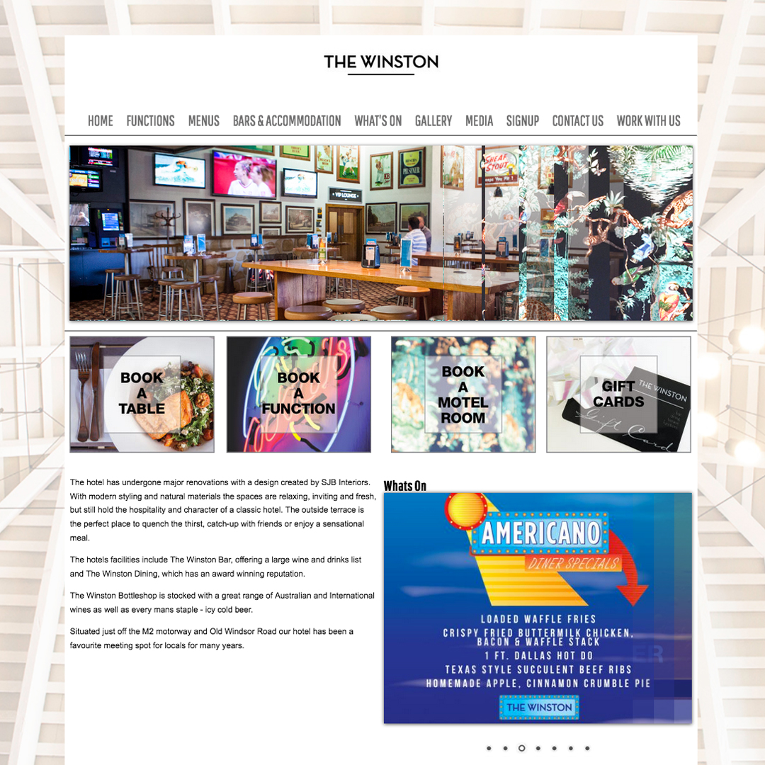 The-Winston Example of Cheeky Monkey Website Design