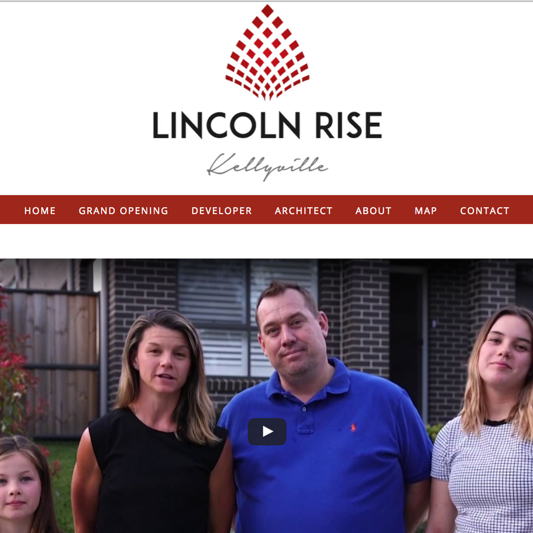 Lincoln-Rise Example of Cheeky Monkey Website Design Sydney Castle Hill